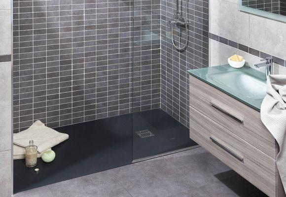 Plato de ducha podio en antracita - Plato de ducha negro ...