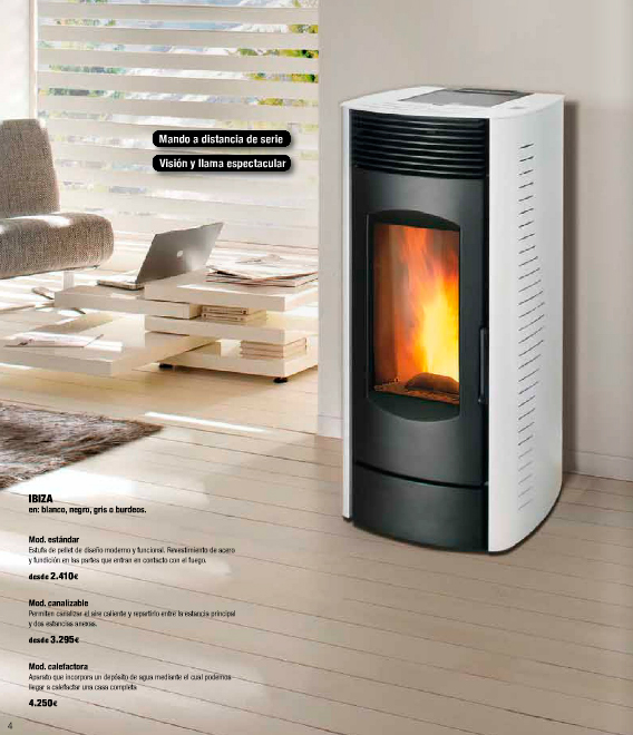 Siente el calor en casa de la mano de grup gamma Estufas de bajo consumo